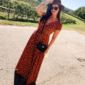 Hit The Spot Wrap Maxi Dress
